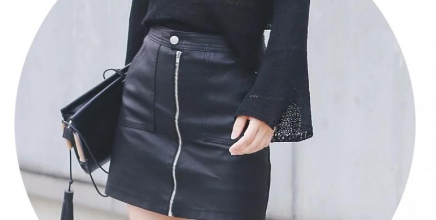 Шикарная юбка из искусственной кожи от N.XINZHE - отзыв покупателя