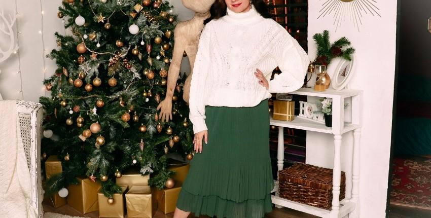 Классная гофрированная юбка Hanzhu
