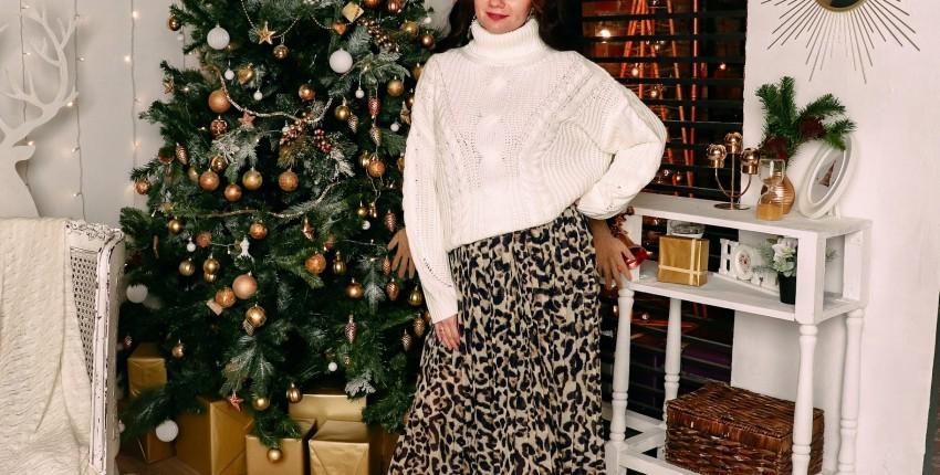 Шифоновая юбка с леопардовым принтом