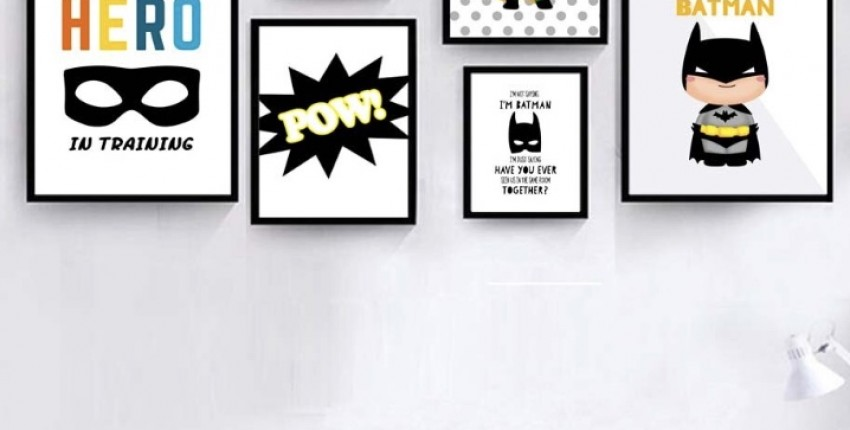 Плакаты с принтом для комнаты. Супер геройские плакаты на холсте.
