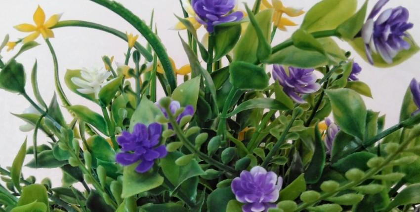 Яркий букет из искусственных цветов от hellomeimei Store. - отзыв покупателя