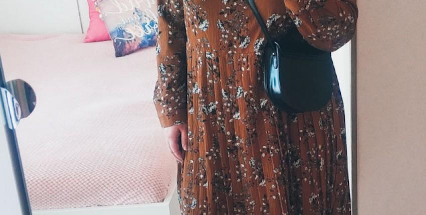 Платье с юбкой плиссе Metersbonwe с Алиэкспресс. Примерка и обзор. - отзыв покупателя