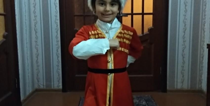 костюм для лезгинки, для мальчика: папаха, черкеска,цвет красный - отзыв покупателя