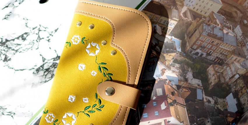 Вместительный кошелек с нежной вышивкой - отзыв покупателя