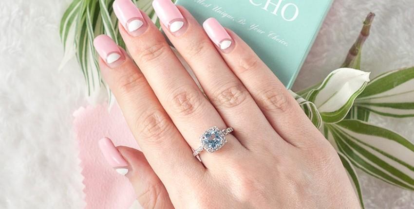 Серебряное кольцо с топазом Umcho с AliExpress - отзыв покупателя
