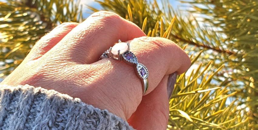 Серебряное кольцо с опалом и аметистом - отзыв покупателя