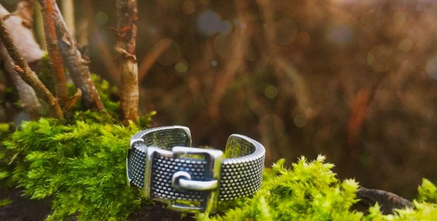 Стильное серебряное кольцо с Алиэкспресс. - отзыв покупателя