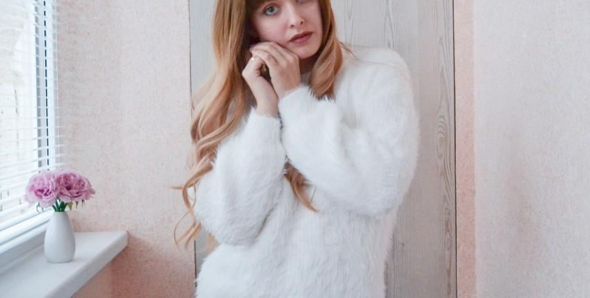 Белоснежный пушистый свитер - отзыв покупателя