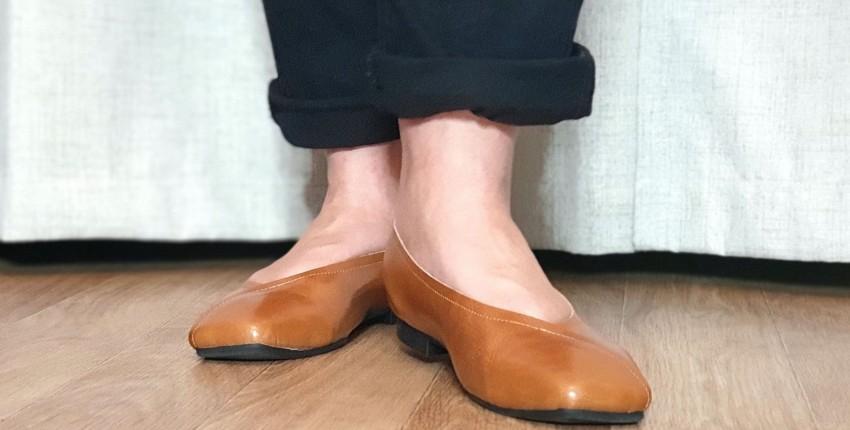 Отличные кожаные туфли на каждый день: распаковка и примерка. - отзыв покупателя