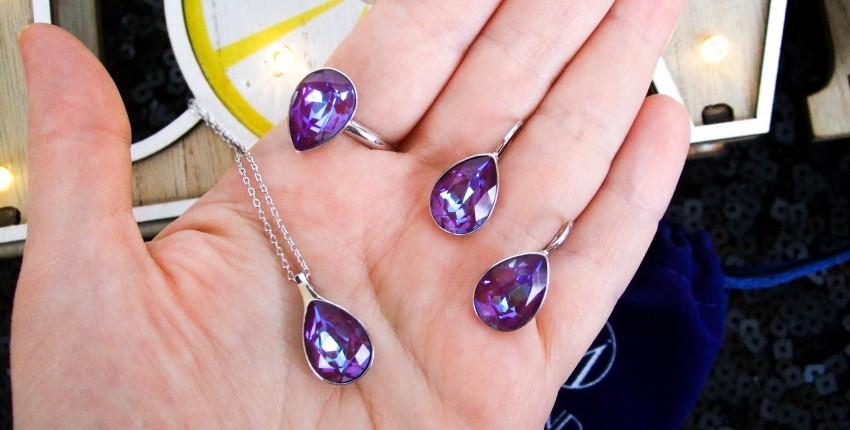 Комплект украшений с кристаллами  Swarovski - отзыв покупателя
