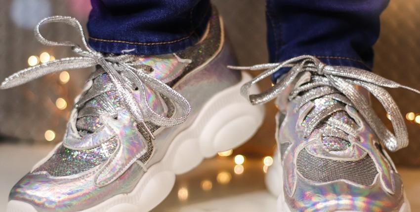 Красивые блестящие кроссовки EshtonShero - отзыв покупателя