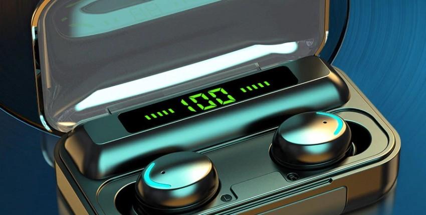 Беспроводные наушники с микрофоном спортивная водонепроницаемая гарнитура 2200 мАч