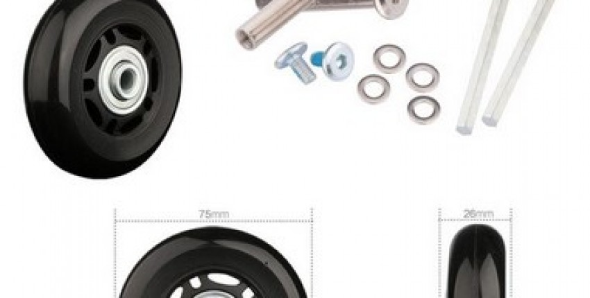 Luggage wheels repair new universal wheels replacement. - User's review