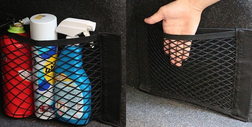 Автомобильный органайзер для хранения, сетка в багажник. - отзыв покупателя