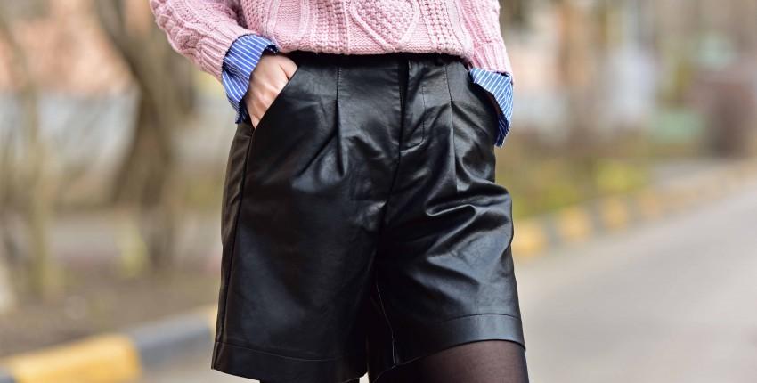 Кожаные шорты-бермуды REALEFT - отзыв покупателя