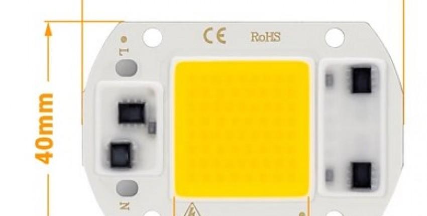 30W LED COB Lamp Chip LED powered by 220V.