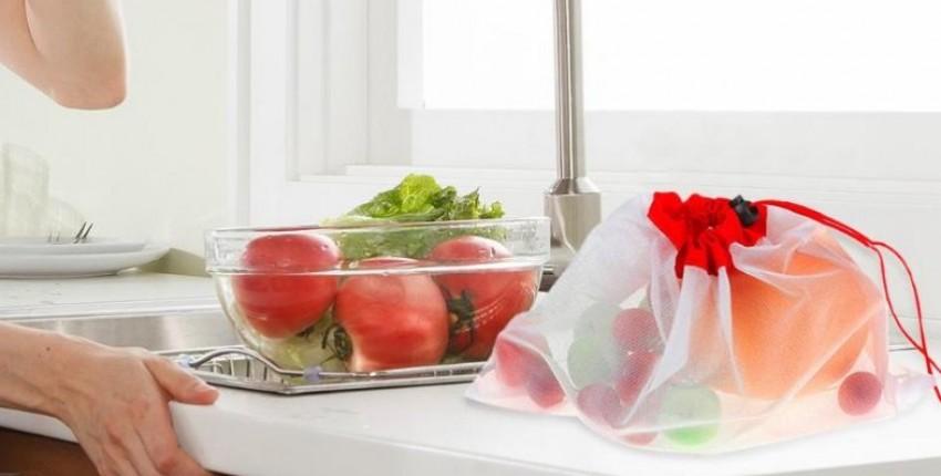 Многоразовые сетчатые сетки. Для хранения продуктов, фруктов, овощей, игрушек, мелочей. 12 штук. - отзыв покупателя