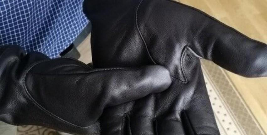 Мужские зимние кожаные перчатки - отзыв покупателя