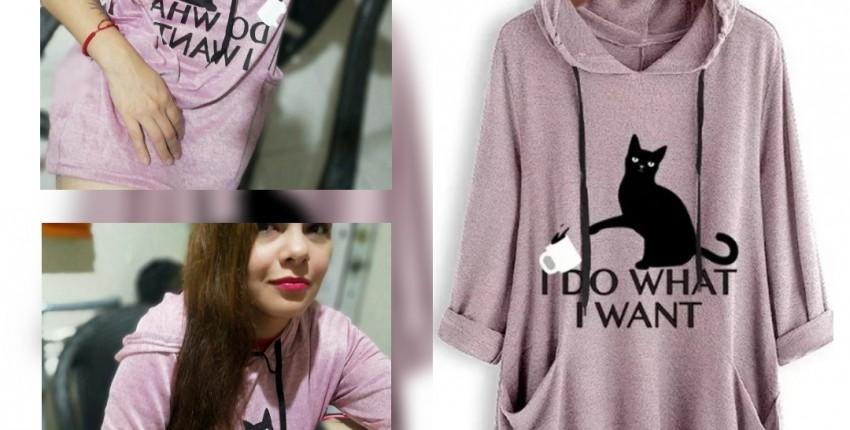 Kitten sweatshirt - opinión del cliente