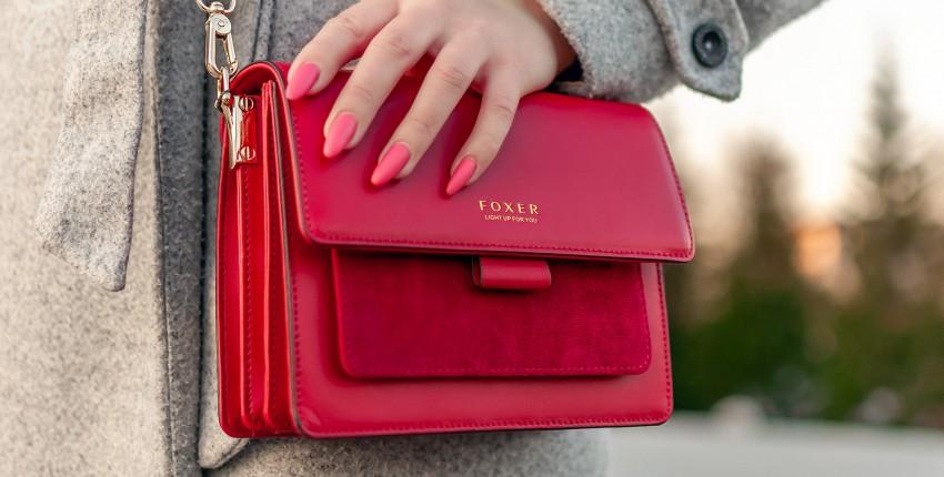 Красная кожаная сумочка Foxer - яркий акцент в образе - отзыв покупателя