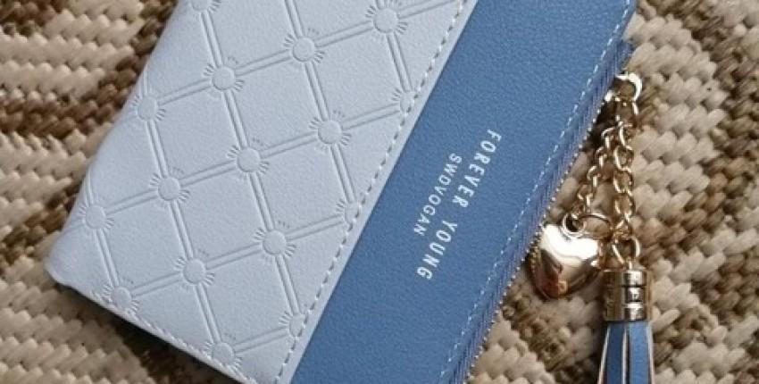 Компактный симпатичный женский кошелёк с надписью forever young - отзыв покупателя