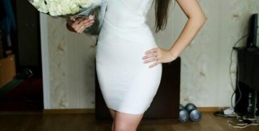 Эффектное белое бандажное платье - отзыв покупателя