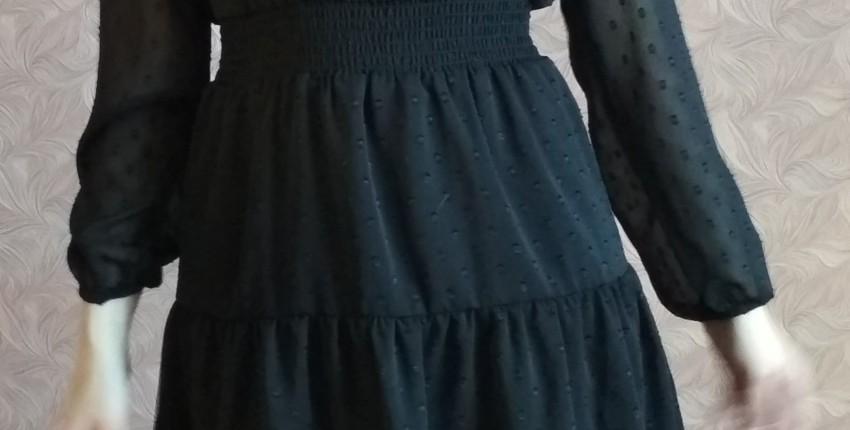 Маленькое черное шифоновое платье - отзыв покупателя