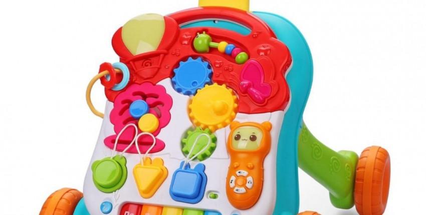 Каталка-ходунки Happy Baby c развивающим центром  Доставка из России - отзыв покупателя