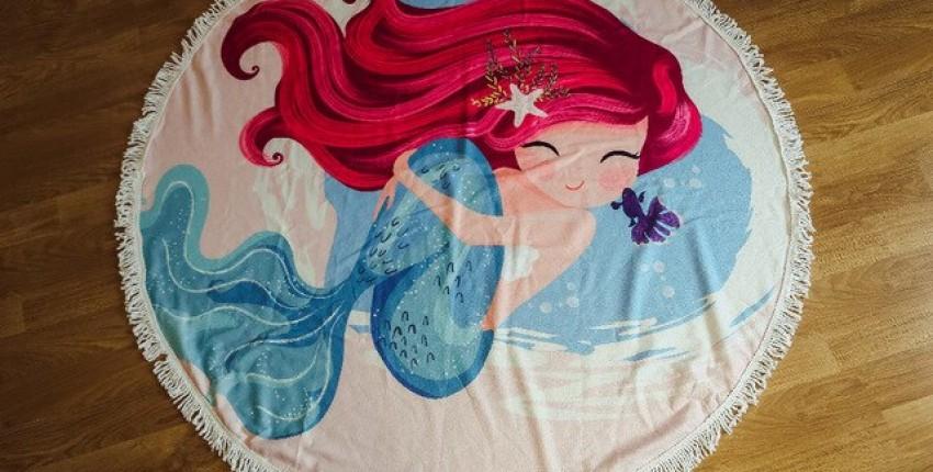 Отличное большое круглое пляжное полотенце - отзыв покупателя