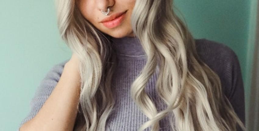 Волнистый парик цвета платиновый или пепельный блонд - отзыв покупателя