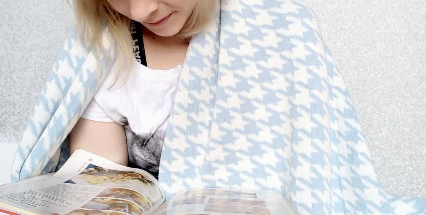 Обзор на хлопковое одеяло с интересным принтом - отзыв покупателя
