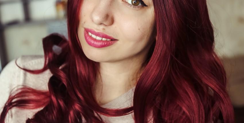 Бордовый омбре парик с волнистыми волосами - отзыв покупателя