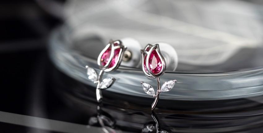 Серебряные сережки в виде тюльпанов - отзыв покупателя