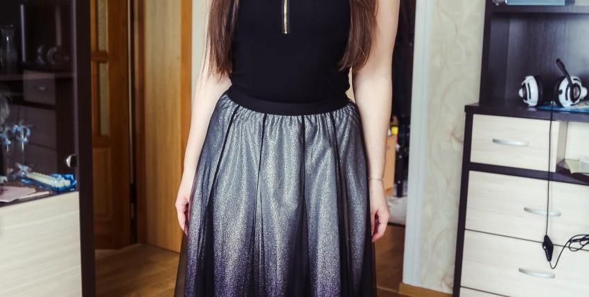 Эффектная юбка длины миди с градиентом - отзыв покупателя