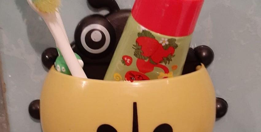 Детские держатель для зубных щеток и песочные часы - отзыв покупателя