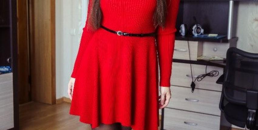 Популярное теплое зимнее трикотажное платье - отзыв покупателя