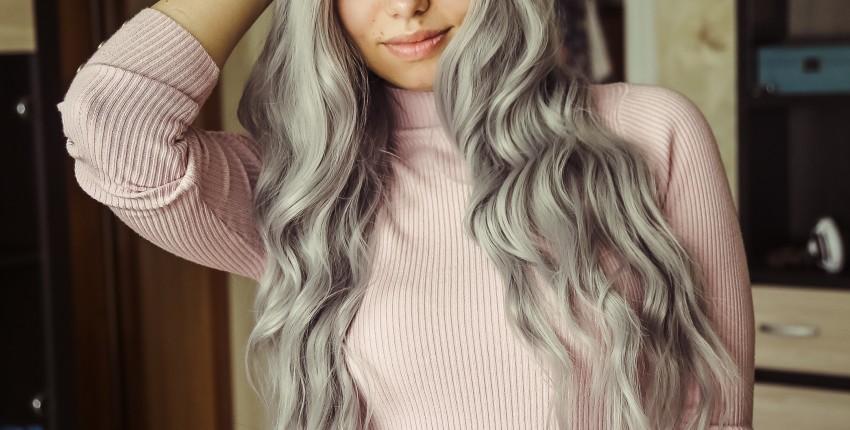 Серый парик с локонами и омбре - отзыв покупателя