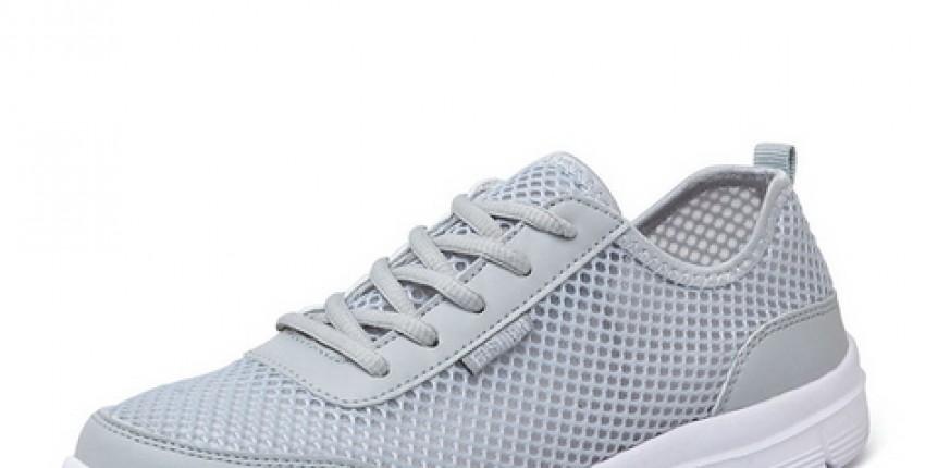 Модные дышащие сетчатые мужские кроссовки на плоской подошве со шнуровкой - отзыв покупателя