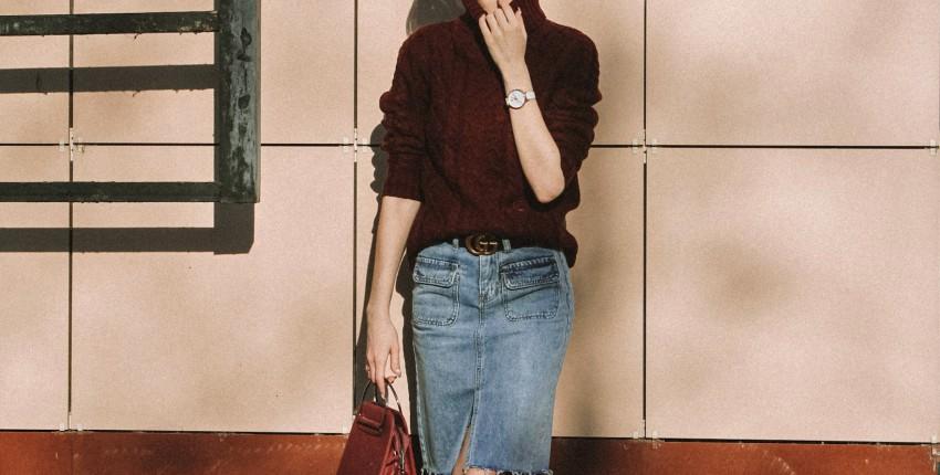 Крутая джинсовая юбка с Алиэкспресс - отзыв покупателя