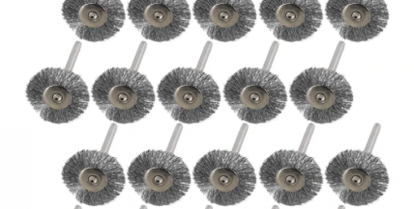 20pcs 22mm Steel Wire Wheel Brush Set For Metal Polishing 3.0mm Shank. - User's review