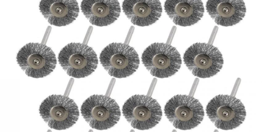 20pcs 22mm Steel Wire Wheel Brush Set For Metal Polishing 3.0mm Shank. - User's review