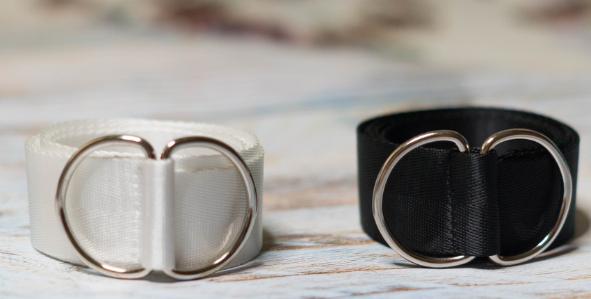 Новый тканевый нейлоновый ремень для женщин, модный ремень с двойным кольцом и пряжкой