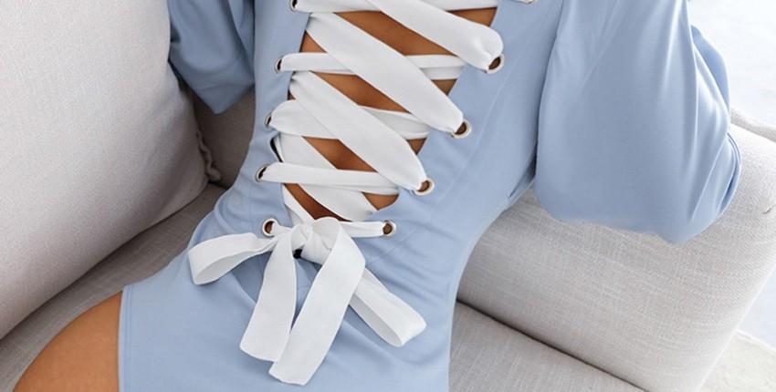 Боди с длинными рукавами и завязками сзади - отзыв покупателя