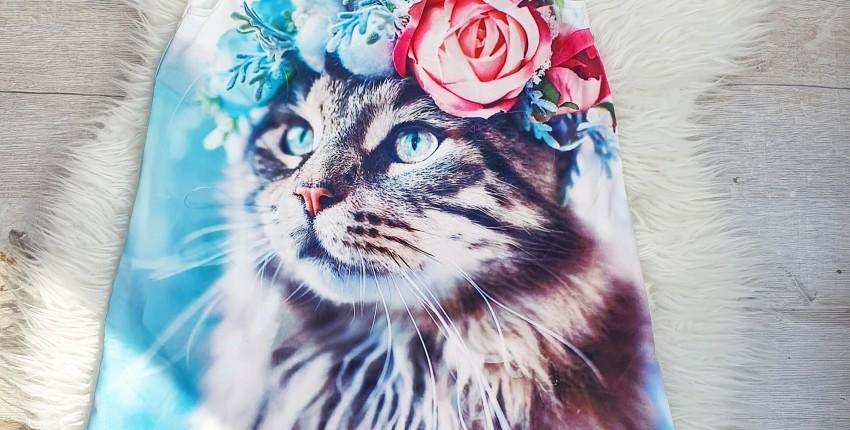 Чудесное платье с изображением котика. - отзыв покупателя