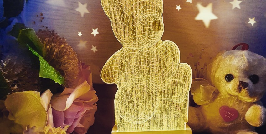 Красивый 3D ночник в детскую комнату - отзыв покупателя