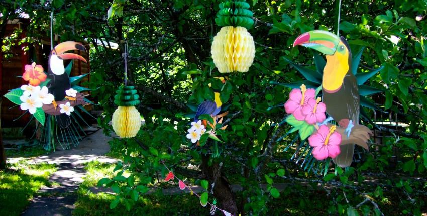 Тропический декор для праздника - отзыв покупателя