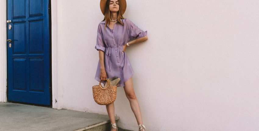 Платье-рубашка цвета лаванды. Моя новая любовь - отзыв покупателя