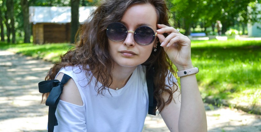 Солнечные очки с круглыми линзами - отзыв покупателя