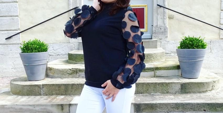 Чудесный свитерок с необычными рукавами. - отзыв покупателя