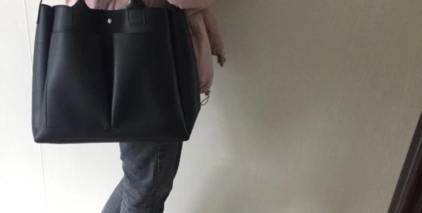 Вместительная кожаная сумка на плечо - отзыв покупателя